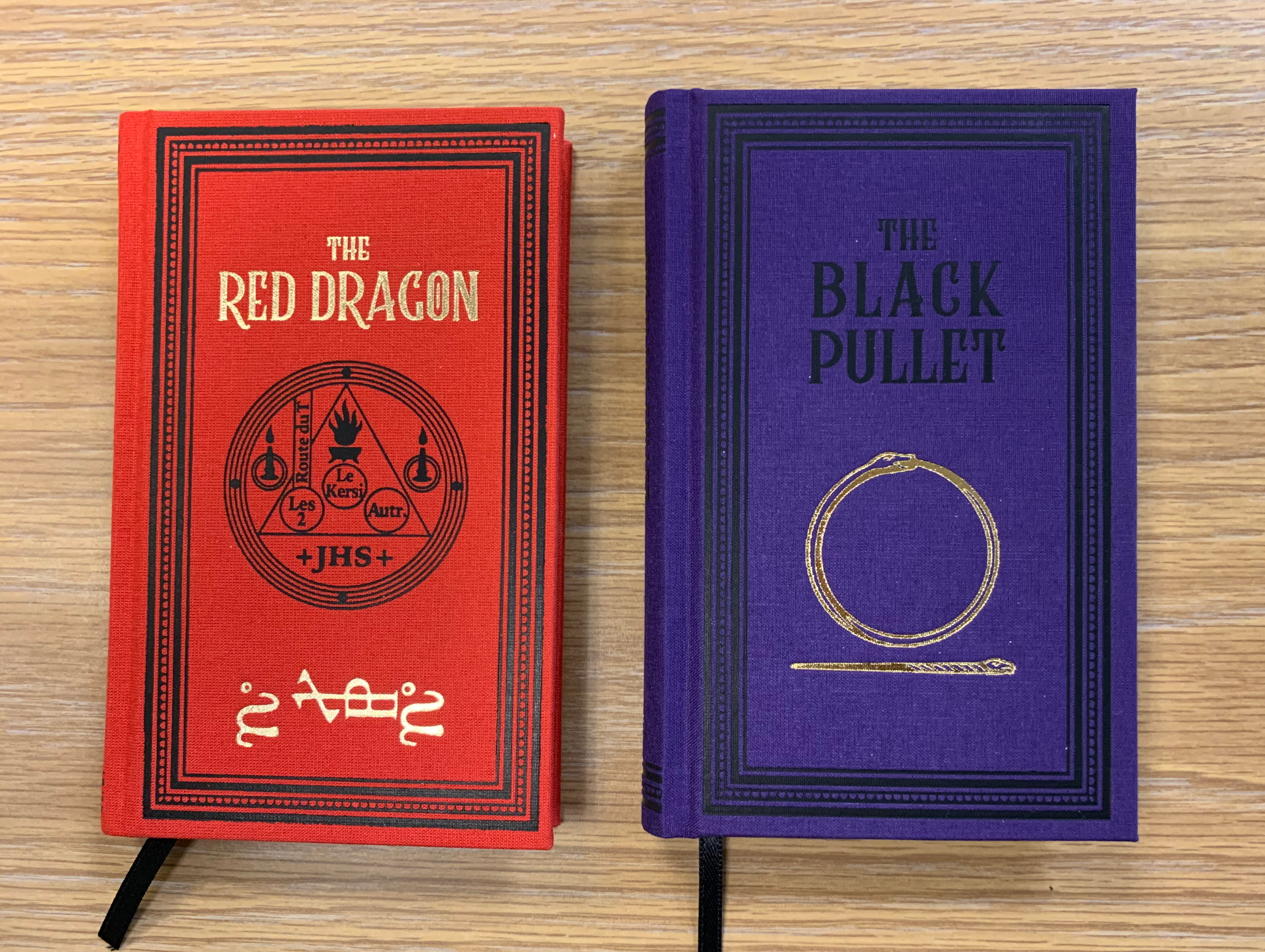 The Red Dragon and Black Pullet from Black Letter Press